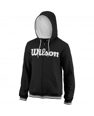 Wilson M Team Script FZ Hoody/Bk/Wh