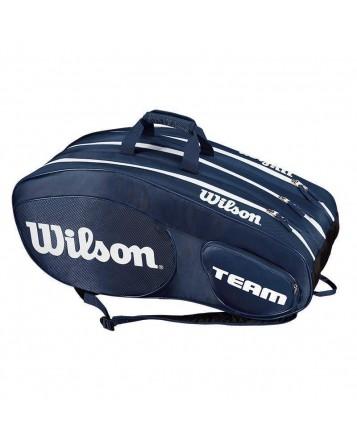 Чехол для теннисных ракеток Wilson Team III 12 RK BL/WH