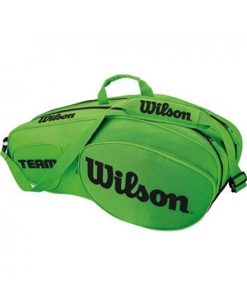 Чехол для теннисных ракеток Wilson Team III 6 RK GR/BK