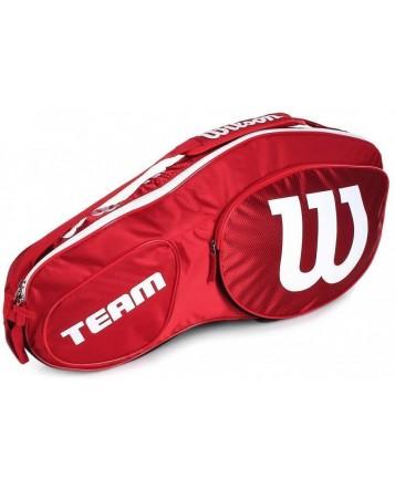 Чехол для теннисных ракеток Wilson Team III 3 RK RD/WH