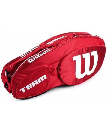 Чехол для теннисных ракеток Wilson Team III 6 RK RD/WH