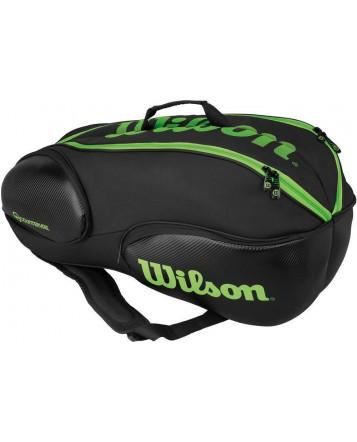 Чехол для теннисных ракеток Wilson Vancouver 9 RK Black/Green