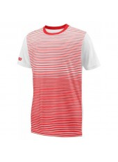 Wilson Jr B Team Striped Crew/Red/White