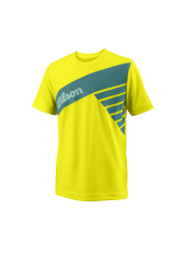 Wilson Jr B Slant Tech Tee/Safety Yello