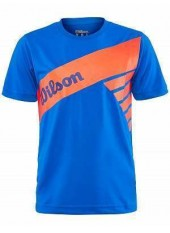 Wilson Jr B Slant Tech Tee/Prince Blue