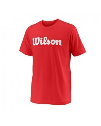 Футболка Wilson Jr Y Team Script Tech/Red/White