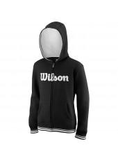 Wilson Jr Y Team Script FZ Hoody/Black/White