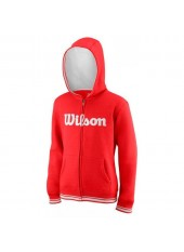 Wilson Jr Y Team Script FZ Hoody/Red/White