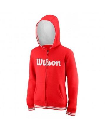 Толстовка Wilson Jr Y Team Script FZ Hoody/Red/White