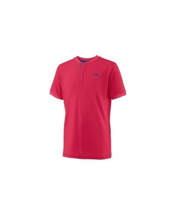 Поло Wilson Jr B UWII Henley/Neon Red/White