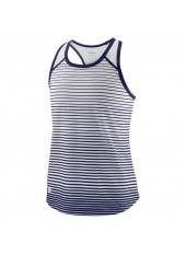 Wilson Jr G Team Striped Tank/Blue Depth/White