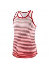 Wilson Jr G Team Striped Tank/Red/White