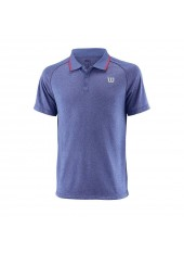 Wilson M Core Polo/Maz Blue/Neon Red