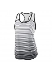 Wilson W Team Striped Tank/Bk/White