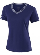 Wilson W Team V-Neck/Blu Depth