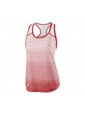 Wilson W Team Striped Tank/Red/White