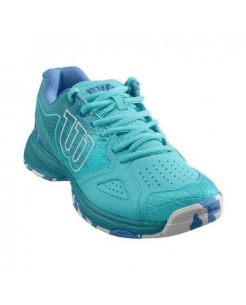 Кроссовки для тенниса Wilson Kaos Devo Blue Curac/Blue женские