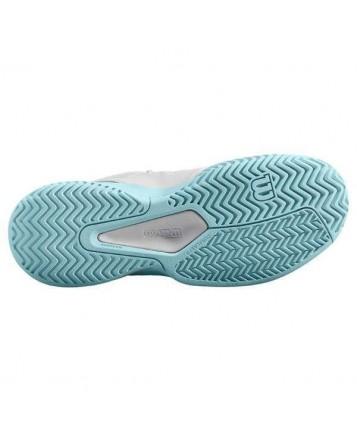 Кроссовки для тенниса Wilson Rush Comp Wh//Blue Glow/Pro женские