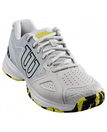 Кроссовки для тенниса Wilson Kaos Devo Wh/Peart Blue/Safety мужские