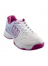 Теннисные кроссовки Wilson Stroke JR Wh/Halogen Bl/Berry