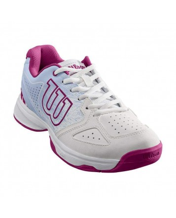 Кроссовки для тенниса Wilson Stroke JR Wh/Halogen Bl/Berry детские