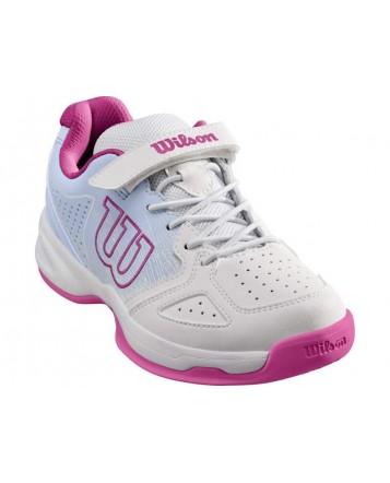 Кроссовки для тенниса Wilson Stroke K  Wh/HalogenBl/Berry детские