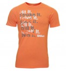 Футболка Wilson M Win Big Tee/Orange