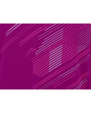 Футболка Wilson M Summer Blur Plaid V Neck/Merlot/Neon Red