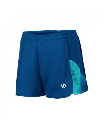 Шорты Wilson W Summer Colorflight Knit 2,5 Short/Pacific Teal/White