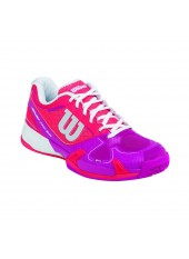 Кроссовки Wilson Rush Pro 2.0 HC Neon Red/Fiesta Pink/White