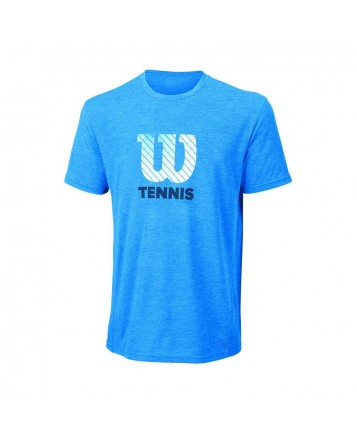 Футболка Wilson M Tennis Graphit Tech Crew/Neptune Heather/White