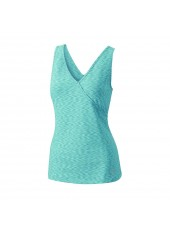 Топ Wilson W Stiated Wrap Tank/Blue Mirage Striated