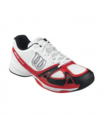 Кроссовки мужские Wilson Rush Evo WH/RED/BK All Court