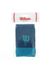 Напульсники Wilson Extra Wide Wristbands Moroccan Blue/Enamel Blue