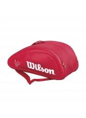 Чехол Wilson Federer DNA 12 PACK RED
