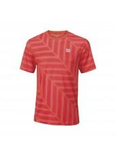 Мужская футболка Wilson M Summer Labyrinth Crew/Hot Coral/Cayenne