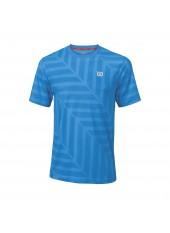 Мужская футболка Wilson M Summer Labyrinth Crew/Blue/Blue Aster