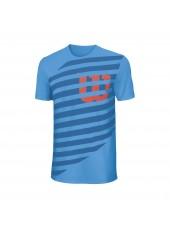 Мужская футболка Wilson M Lined W Tech Tee/Blue/Deep Water/Fiesta