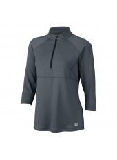 Wilson W 3 QTR Sleeve ZIP Neck/Ebony