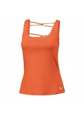 Wilson W Late Summer Ladder Back Athletic Tank/Nasturtium