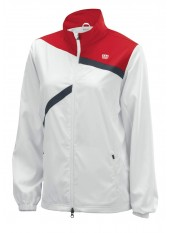 Куртка спортивная Wilson W Rush Team Jacket WH/RD