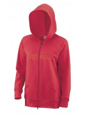 Толстовка Wilson W Full Zip Hoody CHERRY