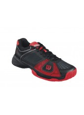 Кроссовки Wilson Rush NGX Clay Court (Black/Red/Asphalt)
