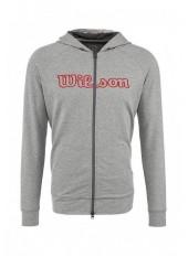 Wilson M W Logo Zip Hoodie/Graphite
