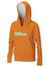 Wilson W Stretch Knit Hoody/Orange/Wave Marine