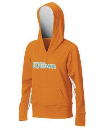 Толстовка Wilson W Stretch Knit Hoody/Orange/Wave Marine