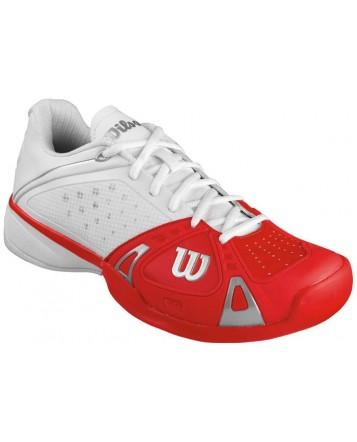 Кроссовки Wilson Rush Pro HC (WH/RED/WHT)