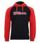 Толстовка Wilson M Hooded Sweater Black/Red