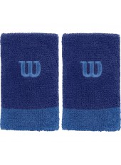 Напульсники Wilson Extra Wide Wristbands Maz Blue/Prince B
