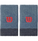 Напульсники Wilson Extra Wide Wristbands Flint/Ebony